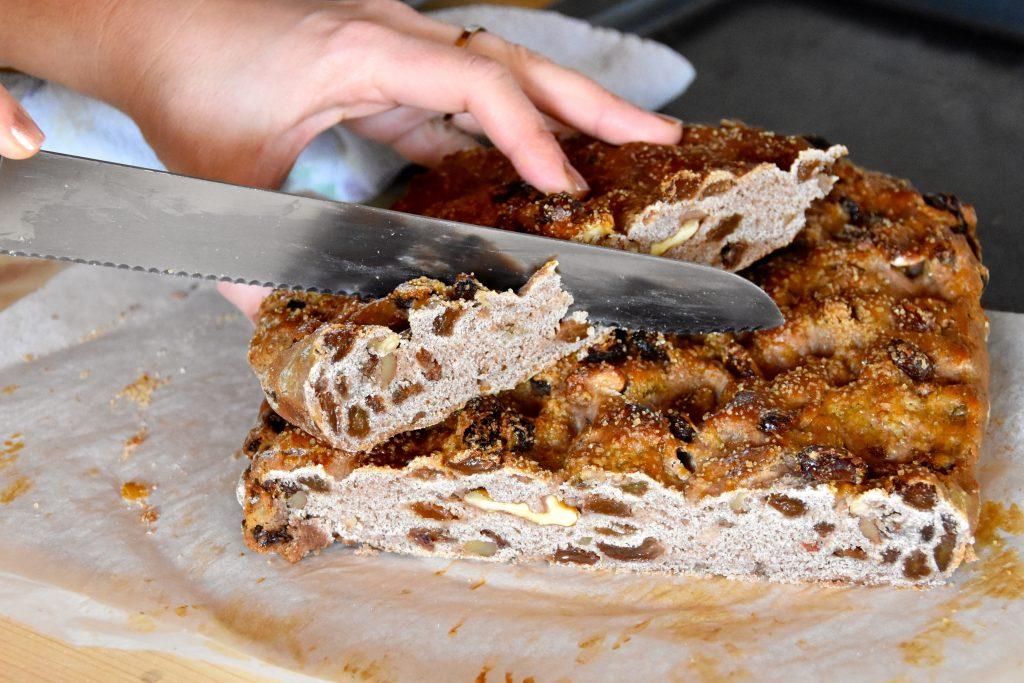 Focaccia con farina di castagne