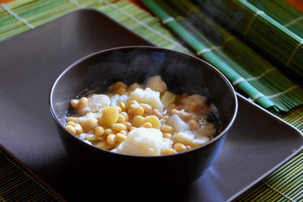 zuppa cavolfiore fave soia