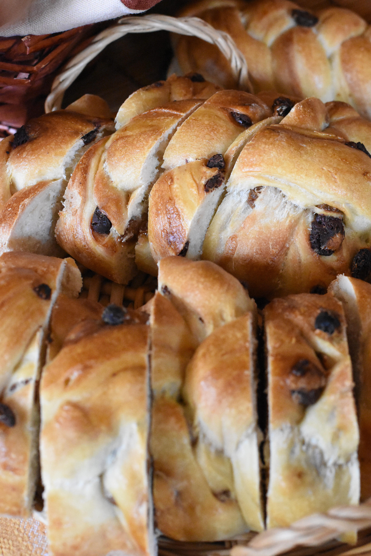 treccia di pane panna cioccolato
