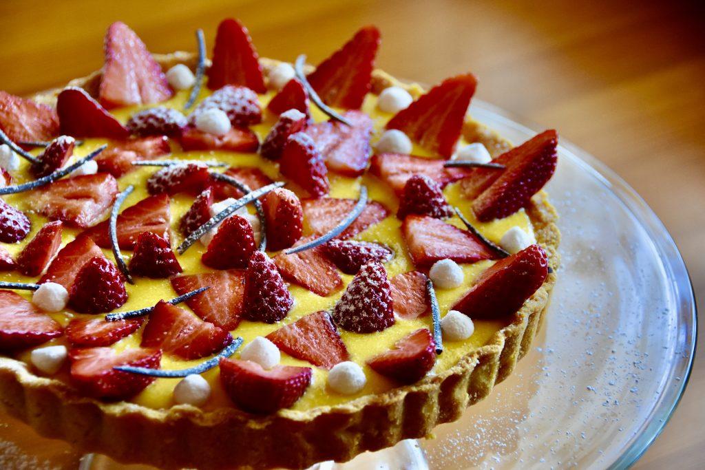torta limone fragole